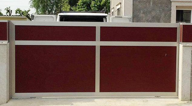 Portões de correr em ferro ou inox para indústria, condomínios, prédios e moradias