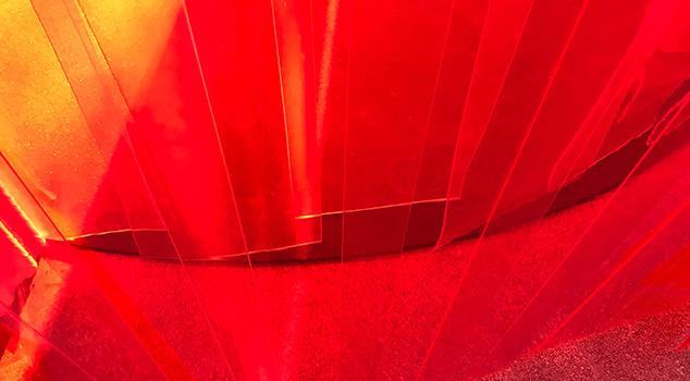 Cortinas de lamelas positivas e negativas em PVC