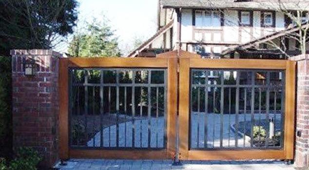 Portões de batente para indústria, condomínios, prédios e moradias em ferro ou inox