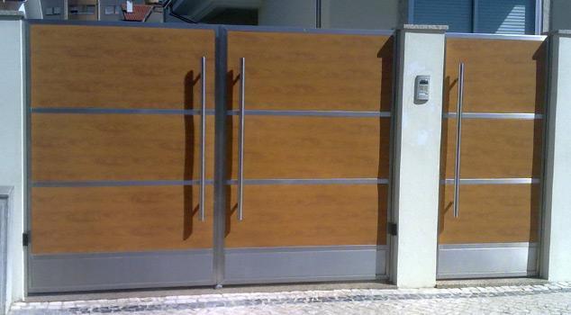 Portões de batente ou de abrir em ferro ou inox