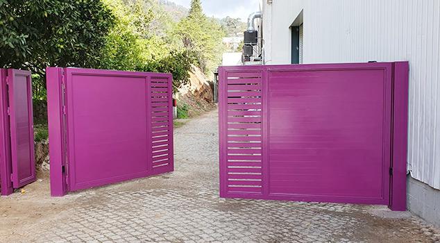 Fabricantes de portões de batente em ferro ou inox